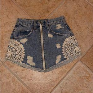 Carmar Denim Skirt, size 25 BNWT